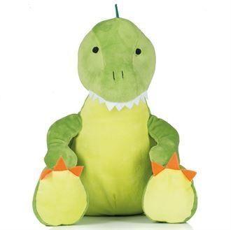 Peluche dinosaure vert et blanc à personnaliser brodée - Voir en grand