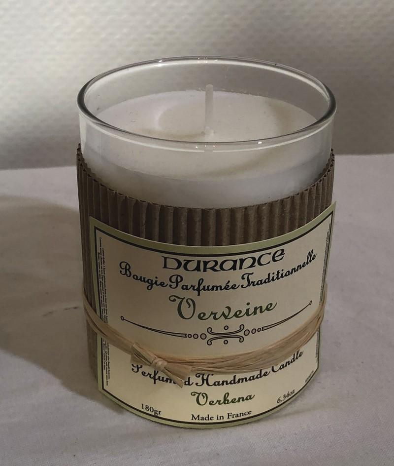 Bougie parfumée traditionnelle DURANCE Verveine  - Voir en grand