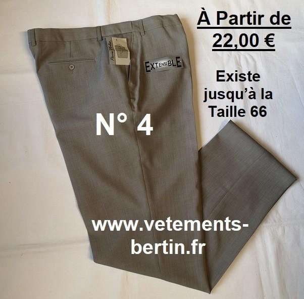 Pantalon Homme Habillé, 100 % Polyester, N°4,  www.vetements-bertin.fr - Voir en grand