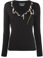 PULL ENCOLURE PERLE BOUTIQUE MOSCHINO