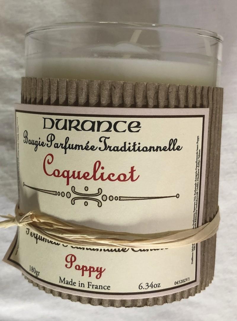 Bougie parfumée traditionnelle DURANCE Coquelicot  - Voir en grand