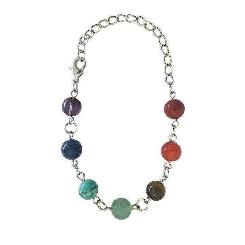 Bracelet 7 chakras-12 - BIJOUX  ESOTERIQUES - Librairie UNIVERS - Voir en grand
