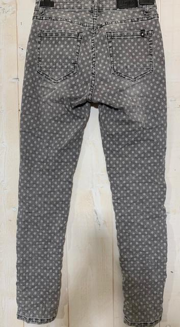 Jean de la marque Toxik gris imprimé pois - 3.jpeg - Voir en grand
