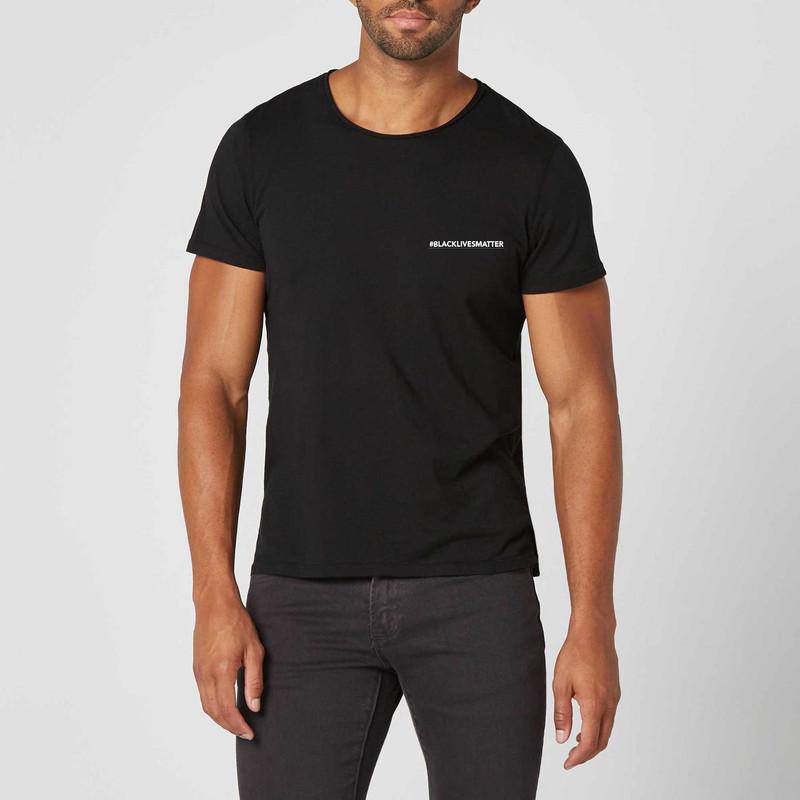 T-shirt noir #Black Lives Matter - Voir en grand