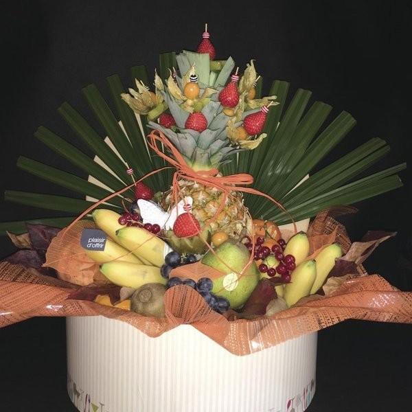 Les boîtes - Corbeilles de fruits frais Tendances - AUX QUATRE SAISONS - Voir en grand