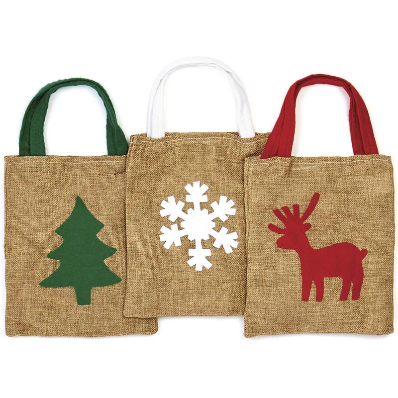 Petit sac en jute idéal pour les petits cadeaux de noël - Voir en grand