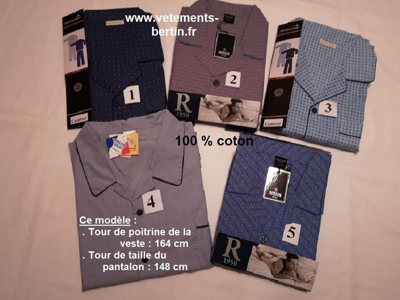 Pyjama homme grande taille, numéro 1 à 5, composition, www.vetements-bertin.fr     - Voir en grand