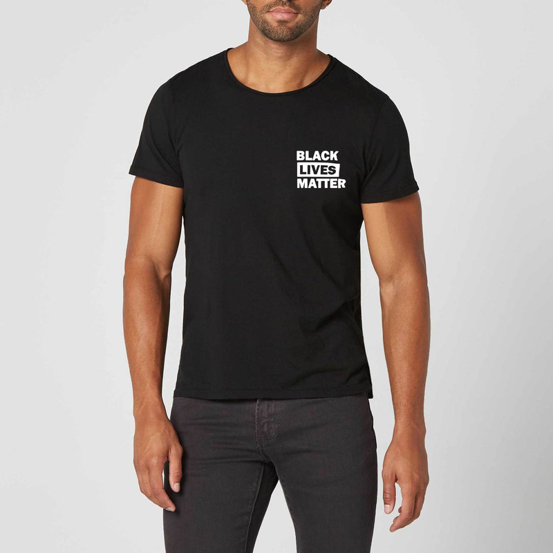 T-shirt noir Black Lives Matter - Voir en grand