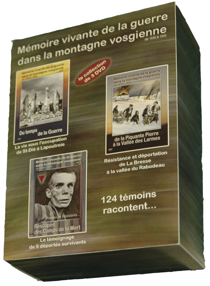 COFFRET 3 DVD Mémoire vivante de la guerre dans les Vosges - DVD - LE CHIQUITO MAISON DE LA PRESSE  - Voir en grand