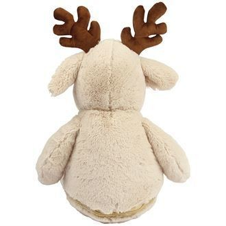 Peluche renne blanc et brun à personnaliser brodée - Voir en grand