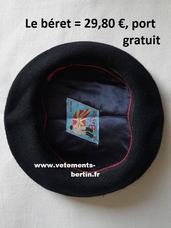 Béret imperméable « Le Basque », port gratuit, www - Voir en grand