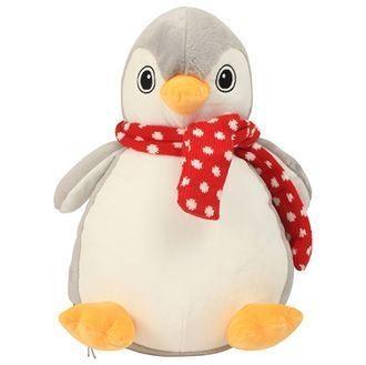 Peluche pingouin gris et blanc à personnaliser brodée - Voir en grand