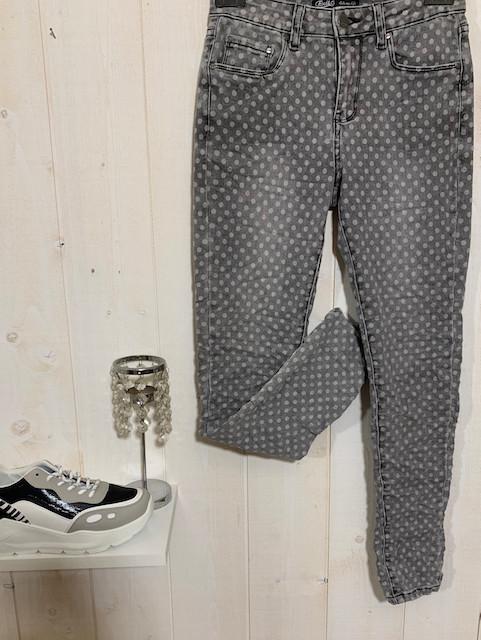 Pantalon de la marque Toxik gris imprimé pois - Pantalons - INSTAGLAM - Voir en grand