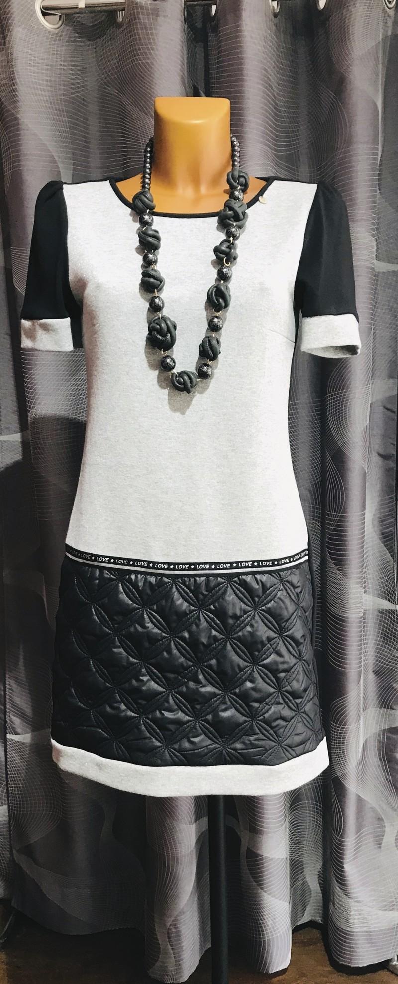 robe grise matelassée grise rinascimento - Robes  - VOTRE BOUTIQUE - Voir en grand