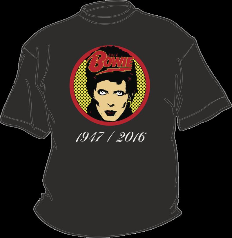 T-shirt noir RIP David Bowie Diamond Dogs 1947/2016 - T-SHIRT RIP DAVID BOWIE 1947/2016 - TIME'S - CADEAUX PERSONNALISES - Voir en grand
