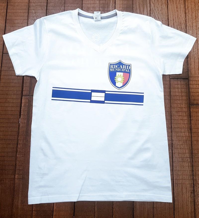 T-shirt blanc Ricard Municipal à personnaliser - Voir en grand