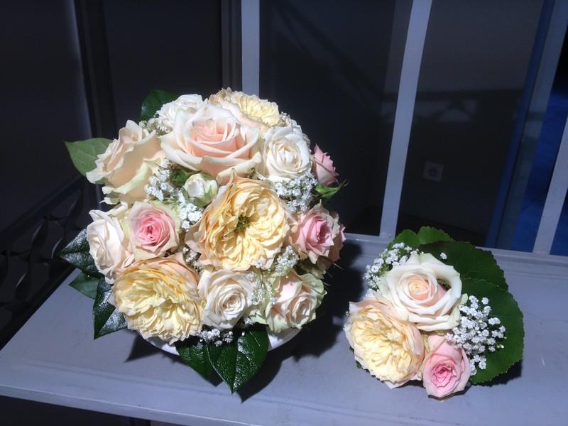 Bouquet de mariée rond - Fleurs Mariage - VATRY-FLEURISTE.COM - Voir en grand