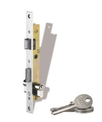 Serrure encastrée, 3 clés  - Pièces détachées pour Portail  - LORRAINE DEPANN' - Voir en grand