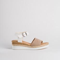 sandales reqins noumea peau -place des filles - Nu-pieds - PLACE DES FILLES  - Voir en grand