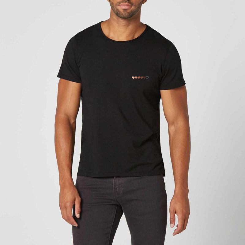 T-shirt noir C½ur Black Lives Matter - Voir en grand