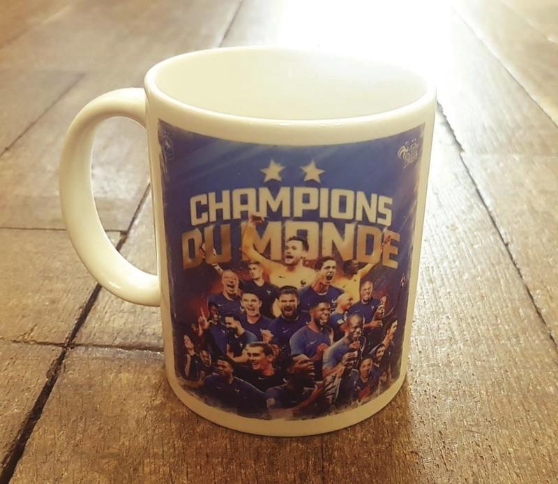 Mug Photo équipe de France de football 2018 - Voir en grand