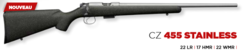 CARABINE CZ 455 STAINLESS CAL 22LR  - CZ - GIPECHASSE - Voir en grand