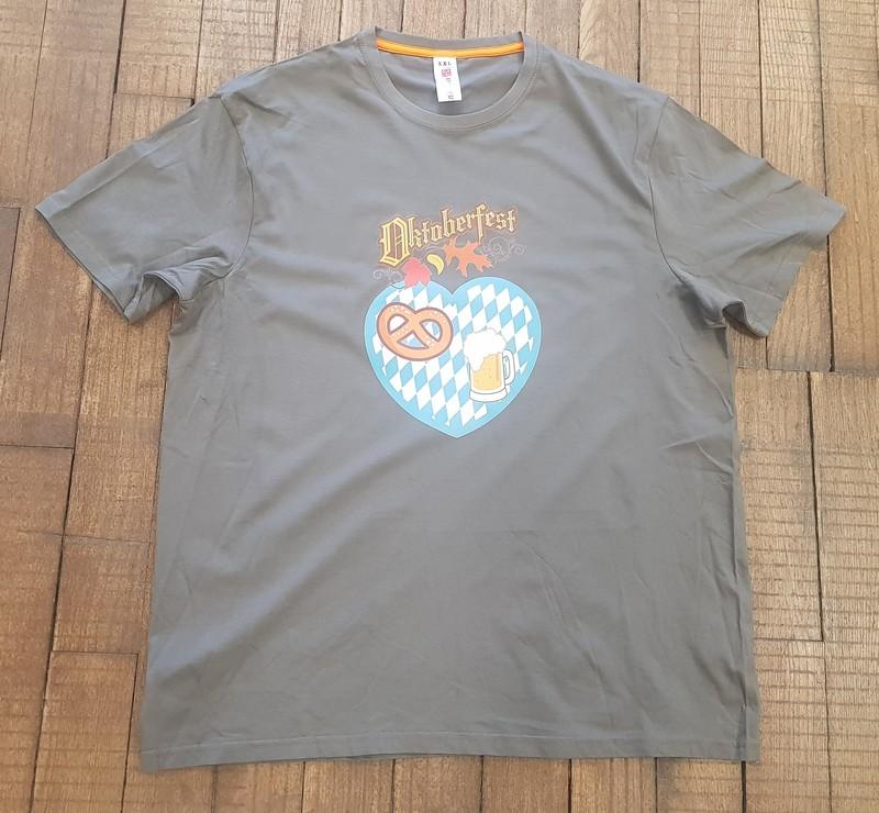 T-shirt gris Oktoberfest - T-SHIRT PERSONNALISE A MESSAGE - TIME'S - CADEAUX PERSONNALISES - Voir en grand