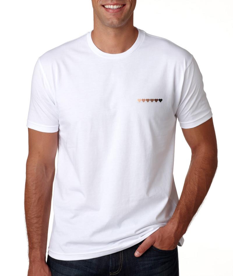 T-shirt blanc C½ur Black Lives Matter - Voir en grand