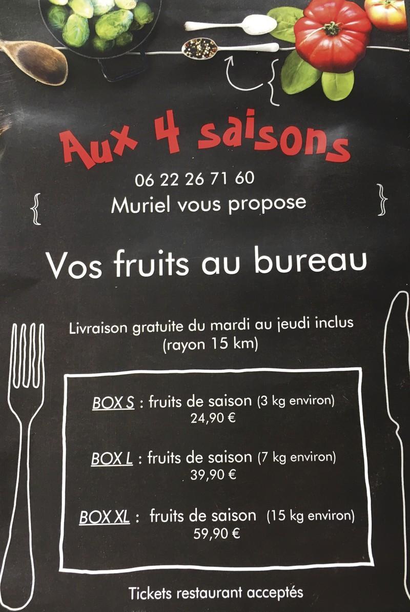 FRUITS FRAIS AU BUREAU - Box's fruits au bureau - AUX QUATRE SAISONS - Voir en grand