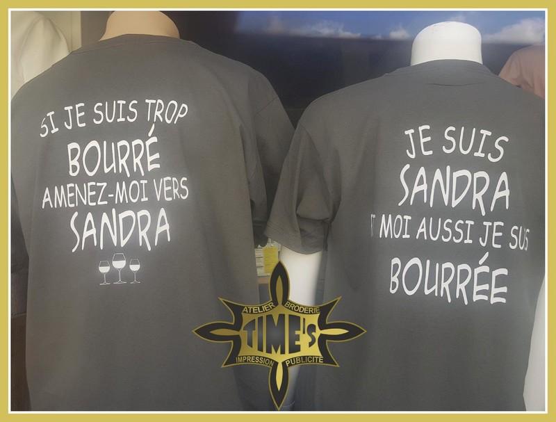 Lot de 2 T-shirts Si je suis trop bourré amenez-moi vers Prénom - Voir en grand