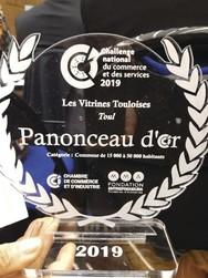 Panonceau OR 2019 LES VITRINES TOULOISES