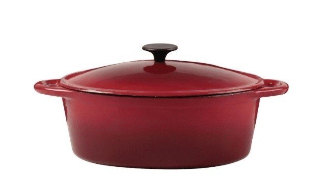 Crealys Grand Chef Cocotte ronde en fonte d'acier émaillée - Cocotte faitout et wok - ATOUTVA - Voir en grand
