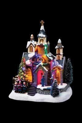 Village de Noël lumineux à pile - Eglise - Villages et crèches - Centrakor Sélestat - Voir en grand
