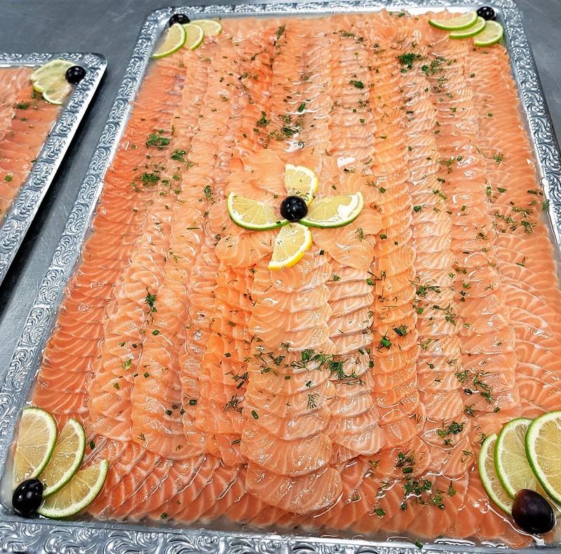 Boucherie WITTMANN BRAND buffet saumon mariné au citron vert - Voir en grand