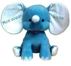 Cubbies Eléphant bleu - Doudous / Peluches - IDEE CADEAU BEBE 68 - Voir en grand