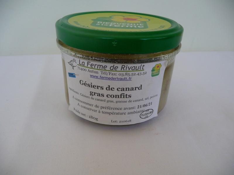 Gésiers de canard confits - SCEA de Rivault - Les Ruchers du Morvan - Voir en grand