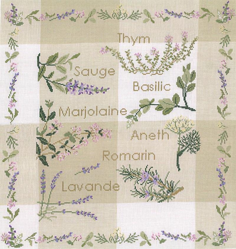 Herbes aromatiques en fleur - Voir en grand