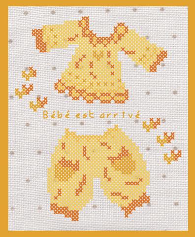 026-2011 Layette jaune - Voir en grand