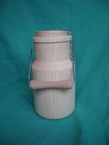 Saboterie MARCHAND Morvan - Pot à lait - Objets bois à décorer - SARL MARCHAND - Voir en grand