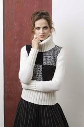 Pullover à col roulé modèle femme