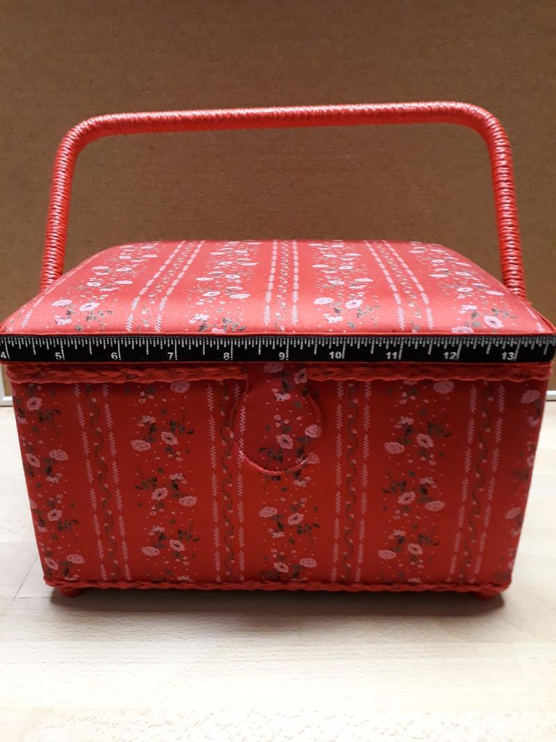 Petite Boîte à couture rectangle  - LE RANGEMENT - AU DE A COUDRE - Voir en grand