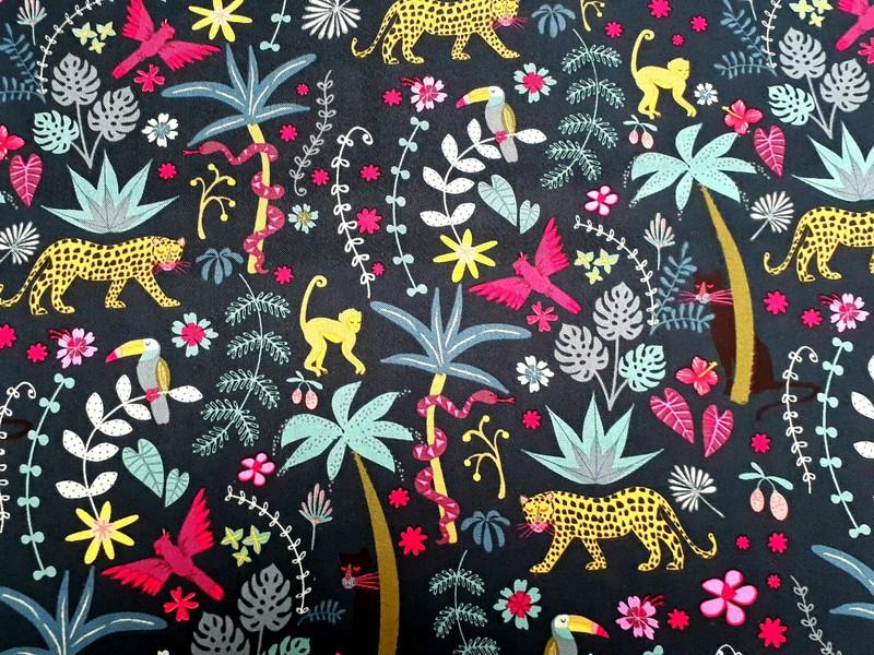 Coton Dashwood Jungle 1644 - TISSUS COTON - AU DE A COUDRE - Voir en grand