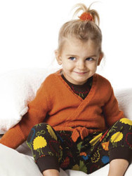 Jaquette croisée modèle bébé - Voir en grand