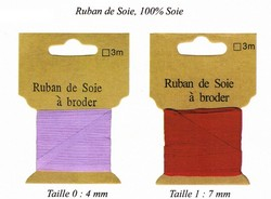 Ruban de soie - RUBAN DE SOIE - AU DE A COUDRE - Voir en grand
