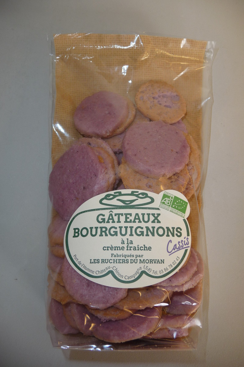 Gâteaux bourguignons AB cassis - Biscuits - Pain d'épices - Les Ruchers du Morvan - Voir en grand