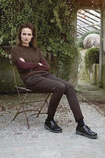 Pullover à manches courtes modèle femme - Voir en grand