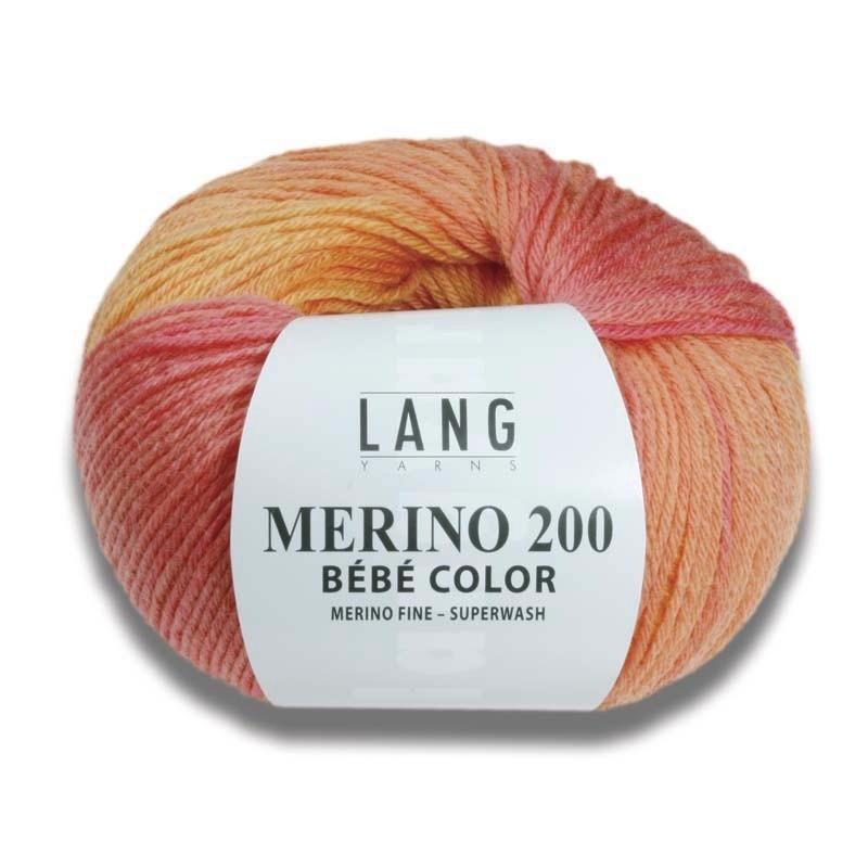 Pelote de laine Merino 200 Bébé color - Voir en grand