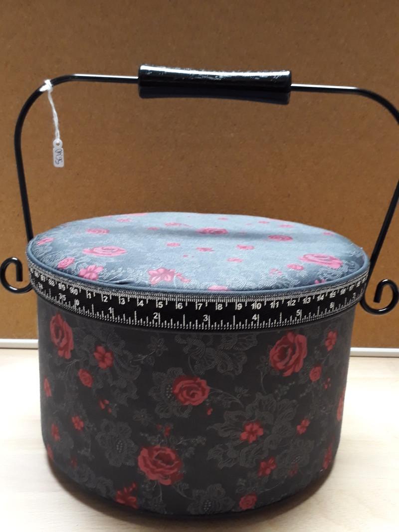 Boîte à couture ronde avec anse métallique - LE RANGEMENT - AU DE A COUDRE - Voir en grand