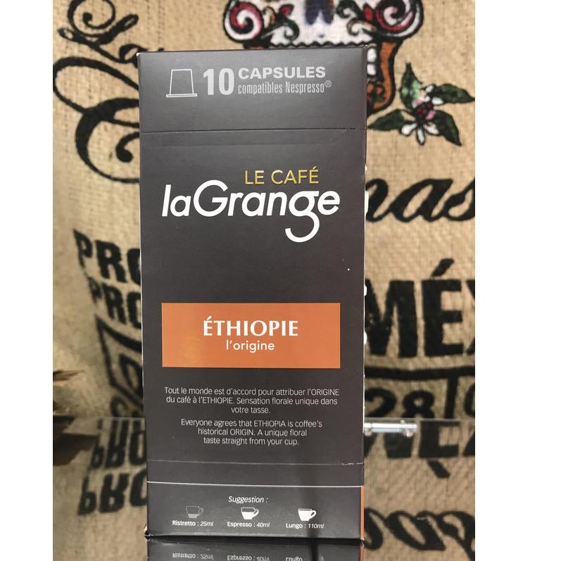 Éthiopie l'origine - Capsule café LaGrange - boite de 10  - Capsule compatible Nespresso - BONBONS SERVICE - Voir en grand