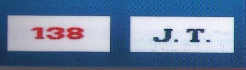 étiquettes initiales et chiffres - Voir en grand